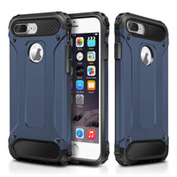 Wholesale For iPhone Dual Layer Slim Armor Case iPhone7 Plus Pro Shockproof Silicone PC Hard Back Tough Cover Phone Cases