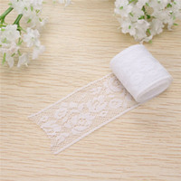 Wholesale 2pcs Lace Fabric Trim Embroidery White Sewing Fabric Ribbons DIY Garment Accessories Wedding Party Home Decoration X3cm