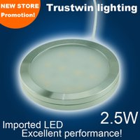Wholesale W W LED puck light W V ultra thin round LED under cabinet light kitchen lamp
