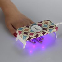 Wholesale LED lamps W Mini LED CCFL Nail Dryer Curing Lamp Machine LED Gel Nail Polish Portable USB power Ultra thin design
