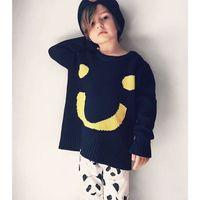 american girl computer - 2016 New Boys Girls Fashion Boutique Smiley Cardigan Sweater Kids Cotton Crochet Knit Sweaters Children Autumn Winter Coat Tops