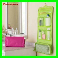 Wholesale Portable Hanging Cosmetic Bag Organizer FoldableTravelling Bag Case Clothing Towel Hanging Storage Bags Toiletry Bags Wash Pouch