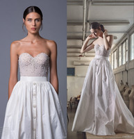 beaded bustiers - Romantic Wedding Dresses Lihi Hod Taffeta Bridal Gown with Beaded Bustier and Pockets Country Brides Dress