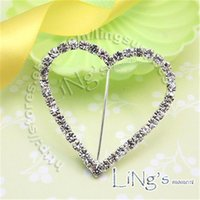 Wholesale 10pcs A Grade Rhinestone Buckle Diamante Heart Shape Buckle Size mm DIY Supply