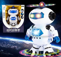 Wholesale CCX Electric music dancing robot with light Boys and girls children electric toy gift Christmas New Year