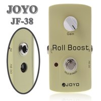 Wholesale 35dB Boost JOYO JF Electric Violao Guitarra Guitar Parts Effect Pedal Roll Boost Clean Volume True Bypass Design New