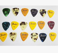 Wholesale New mixed thickness celluloid guitar picks stamping LOGO guitar accessories instrument accessories