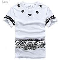 rocking skateboard - Cuoka Brand Hip Hop Pyrex T Shirt Star Printed T shirt Men HBA Cashew Rock T shirts For Skateboard Swag Tops Tees Size M XXL
