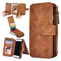 magnets for - For iphone plus S7 Multi functional in1 Magnet Detachable Removable Vintage Cover PU Leather Wallet Case For Samsung Galaxy S5 S6 edge