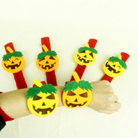 Wholesale New style Halloween party laughing face pumpkin papa bracelet for kids halloween gifts