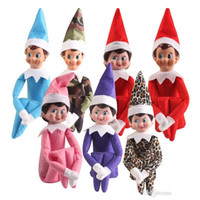 Wholesale The Elf boy and girl Christmas Plush Shelf Toy Red color Gifts for Kids Cute Dolls on New Year Xmas Party Birthday