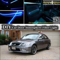acura tuning - For Acura EL Interior Light Tuning Atmosphere Fiber Optic Band Ambient Light Inside Door Cool Strip Light Refit