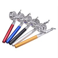 alloy threaded rod - Good Deal Telescopic Fishing Rod Set Pen Shape Aluminum Alloy Portable M Reel Spool Thread Starter Ice Fishing Rods YYG042