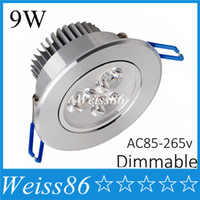 bathroom ceiling materials - New w Led Downlights led down light Aluminum material AC85 v or v ceiling lamp For Home Lighting Decoration CE UL SAA