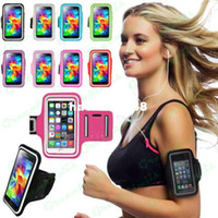 Wholesale Sports Armband Gym Running Jog Arm Band Case Bag Mobile Phone Arm Holder Cover For iPhone s