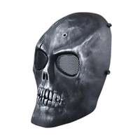 Wholesale S5Q Airsoft Paintball Skeleton Full Face Protect Mask CS Field Protective Mask AAAGFP