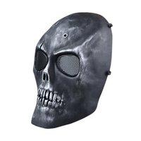 al por mayor proteger a paintball-S5Q Paintball Airsoft esqueleto de la cara llena Proteger la máscara de CS campo de protección AAAGFP Máscara