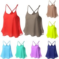 Wholesale A variety of color color Sexy Women s Tops Super soft Summer Camisole with Great Quality Size S M L XL
