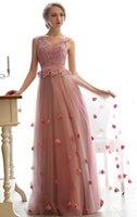 Wholesale New women pink v neck bride evening dress long style wedding dress no7