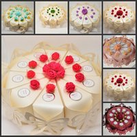 Wholesale 2016 New Arrival Wedding Centerpieces Cake Shaped Candy Favor Boxes Butterfly Design Decor Paper Candy Box For Wedding Decoration Supplies