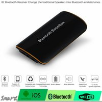 Wholesale 10pcs Universal B2 Wireless Car Bluetooth Receiver Adapter MM AUX Audio Stereo BT Music Receiver Bluetooth Audio Adapter