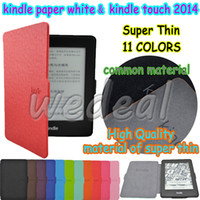 Wholesale thin protective kindle DX cover case for kindle paperwhite kindle touch PU material with different colors