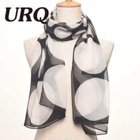 Wholesale Chiffon Silk scarves Spring fashion Polka dot prints women s scarves wraps Foulard P5A16419
