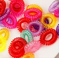 Wholesale Hot Candy Colored Telephone Line Elastic Hair Bands Hair ties Hair rings hair wear Hair Accessories