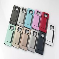 apple individual - Hybrid Dual Card Phone Covers Wallet Case Back Cover Individual Mobile Phone Cases For Iphone s s Samsung s5 s6