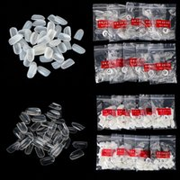 Wholesale Bag For False Nail Art Tips Full Round Acrylic UV Gel Nail Tips For Decoration M01922
