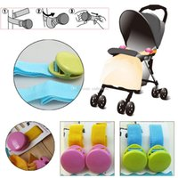 Wholesale Baby Infant Stroller Pushchair Car Pram Tape Strap Cramps Multi functional Clips L00052 SMAD