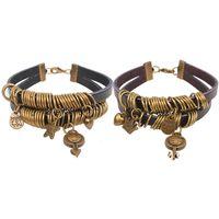 ancient symbol - Retro Ancient bronze Handmade diy Creative Personalized jewelry Male and female sex symbols Couple Bracelet Valentine s Day Gift