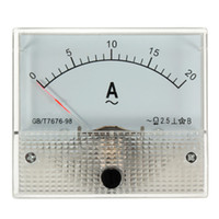 Wholesale White AC A Analog Amp Meter Measurement Ammeter Current Panel With Screws New Arrival High Quality