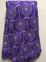 Wholesale by DHL Newest design African Swiss voile lace high quality African Fabric Yards Cotton lace for party dress
