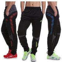 Wholesale 2016 new fashion mens Football Pants zipper legs running training pants Narrow pants tight pants sports pants