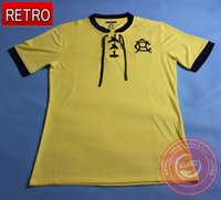 Wholesale 2016 Top Quality AÑOS DEL CLUB AMÉRICA Soccer Jerseys Retro Jerseys Centenario Con Caja Home Yellow Club America Football shirts