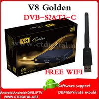 adapter satellite - openbox V8 Golden wifi adapter DVB S2 T2 C Tuner repalce PVR Ready openbox v8 pro satellite receiver support powervu cccam