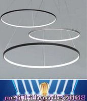 bedroom showrooms - LED W Pendant Light Modern Design LED RingSpecial for office Showroom Living Room MYY