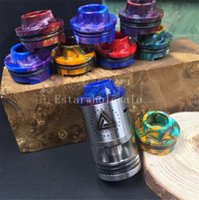 Wholesale 2016 cheapest epoxy resin stone drip tip wide bore mm diameter mouthpiece drip tip limitless RDA drip tips