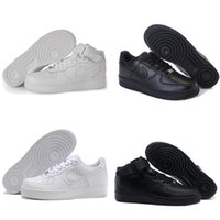 air force sports - 2016 New Classical Mens Womens Running Shoes Famous Trainers Air Force One Sports Skateboarding Shoes White Black Eur