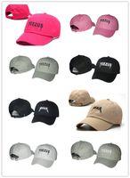 Wholesale 2016 New Design Peaked Caps Adjustable Snapback Caps Top Quality Hat Snapbacks Yeezus Caps For Men Women