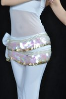 belly hip scarf - New Belly Dance Costume Hip Scarf Belt Sequins Golden Coins Colors