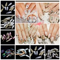 Wholesale 50pcs x10mm Glitter Crystal Rhinestones For Strass Nails Art Decoration Gold Flatback Long Water Drop DIY D Nail Jewelry