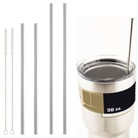 Wholesale Yeti Stainless Steel Straws Reusable Metal Drinking Straight Straws Fits Oz Yeti Tumbler Rambler Cups Length in OD in