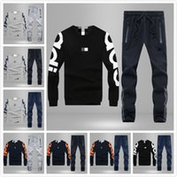 Wholesale Fashion Original Brand logo Casual sportswear Men Sweatpants Spring Autumn Long sleeved Sweater Sports suit large size M XL