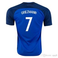 france - Whosales Discount France Benzema Football Jersey Maillot GRIEZMANN Jersey EURO CUP Shirt Soccer Uniforms A Quality