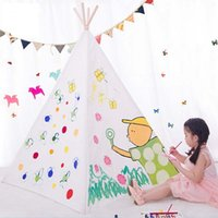 Wholesale TEEPEE KIDS DIY PLAY TENT CHILDREN PLAY HOUSE TOY TENT