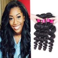Cheveux Vierge brésilienne en vrac Vague 4 paquets Lot non transformés Virgin péruvienne indienne brésilienne Human Hair Extension Wavy Remy Hair Weft Peut Dye