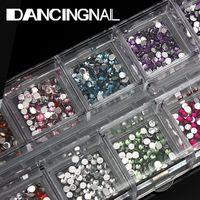 Wholesale Nail Art Design Flat Round Rhinestone Tips Case pc Pencil Picking Gel Pen Set