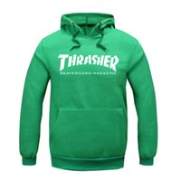 Wholesale New sale thrasher letter Printed Pullover Unisex Adult Size Hoodie Sweatshirt with hood thrasher hoodies clothing